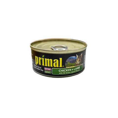 Primal Kitten Can Chicken & Lamb 100g