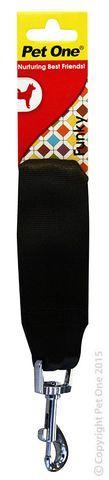 Pet One Leash Car Seat Belt Attachment 15cm Black