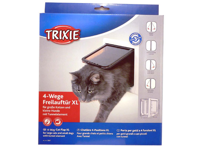 Trixie Cat Door 4 Way Tunnel XL - White