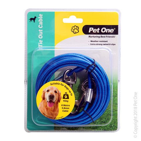 Pet One Tie Out Cable 6m x 4.8mm