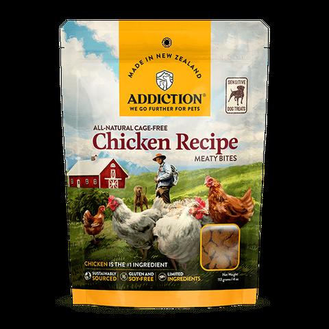 Addiction Meaty Bites Treats Chicken 113g