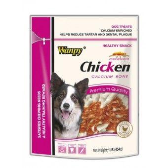 Wanpy Dog Chicken & Calcium Bone 454g