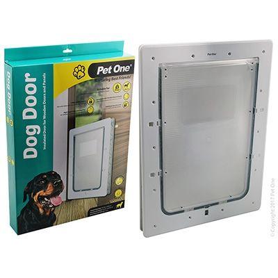 Pet One Dog Door Poly Lge Wood/Panel Door