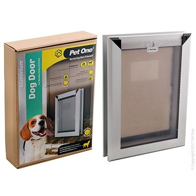 Pet One Dog Door Aluminium Med Wood/Panel Door