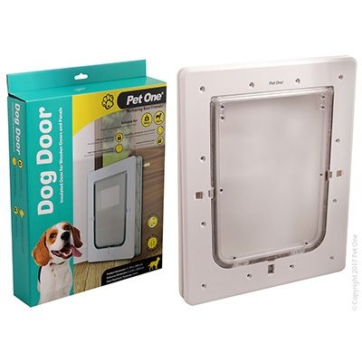 Pet One Dog Door Poly Med Wood/Panel Door