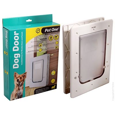 Pet One Dog Door Poly Sml Wood/Panel Door