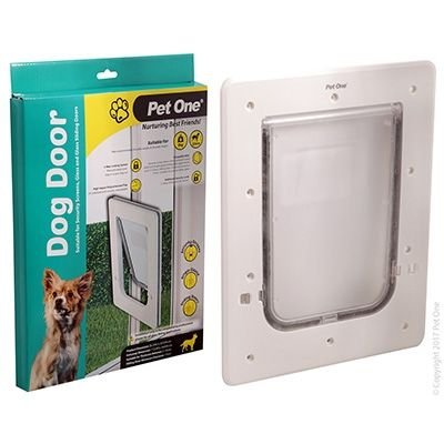 Pet One Dog Door Poly Sml Glass Sng