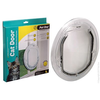 Pet One Cat Door Poly Glass Sng