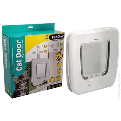 Pet One Cat Door Poly Magnetic Entry
