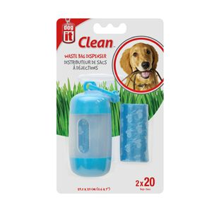Dogit Waste Bag & Holder Blue