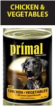 Primal Dog Chicken & Veges 390g