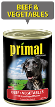Primal Dog Beef & Veges 390g