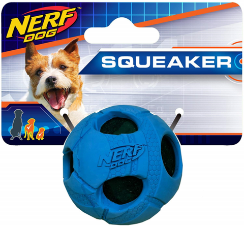 Nerf Tennis Ball Rubber Wrapped Squeaker 5cm