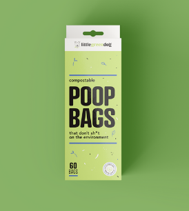 Little Green Dog Compostable Poop Bags 60bags