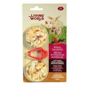 Living World Rabbit Wheel Treats 2pk - Carrot, Tomato & Herb