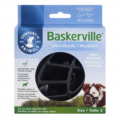 Muzzle Baskerville Ultra Size 3 Black
