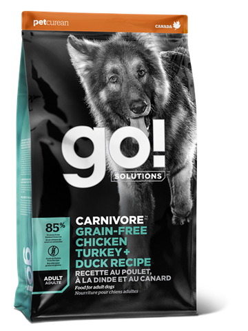 GO! Dog Carnivore Adult Grain Free Chicken,Turkey & Duck 10kg