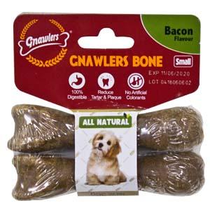 Gnawler  7.6cm Bacon Bone Twin Pack