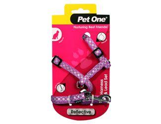 PetOne Harness Cat Reflective Purple