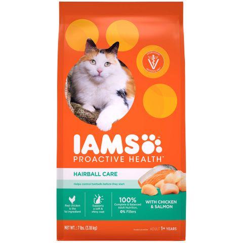 IAMS Cat Healthy Adult Hairball Chicken/Salmon 1.59kg