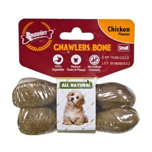 Gnawler  7.6cm Chicken Bone Twin Pack
