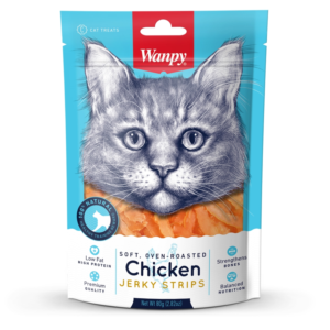 Wanpy Cat Chicken Jerky Strips 80g