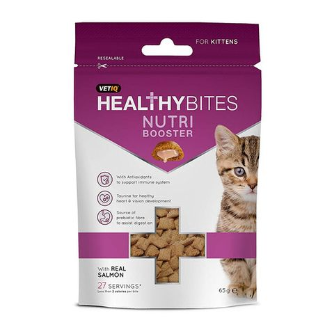VetIQ Healthy Bites Nutri Booster Treats for Kittens 65g