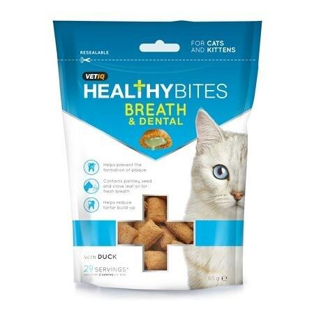 VetIQ Healthy Bites Cat Breath & Dental Treats 65g