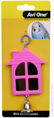 Avi One Bird Toy House Shaped Mirror