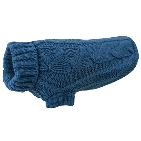 Huskimo Cable Knit Jumper Pacific Blue