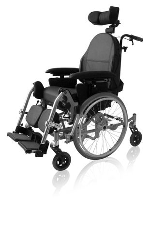The Weely Manual Tilt and Recline Wheelchair - 44cm Contour Back