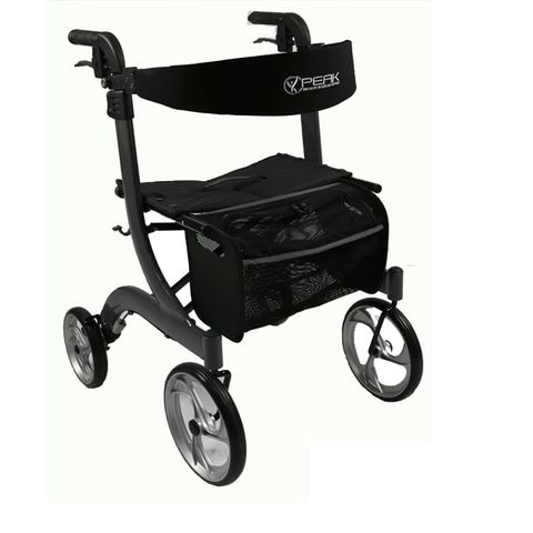 Ellipse Lite Aluminium Rollator - Black Medium