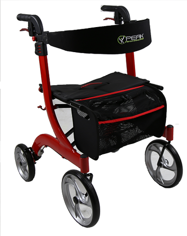 Ellipse Lite Aluminium Rollator - Red Small