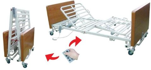 Peak SS-888-Fm Electric Folding Bed - Single