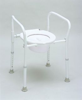 Peak Aluminium Folding Over Toilet Aid With Lid And Bowl (9346376011020)