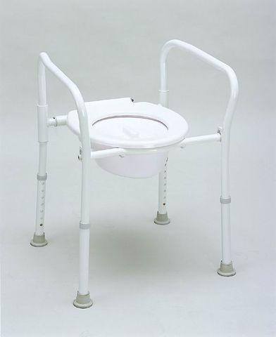 Peak Aluminium Folding Over Toilet Aid With Lid And Bowl (9346376011020)