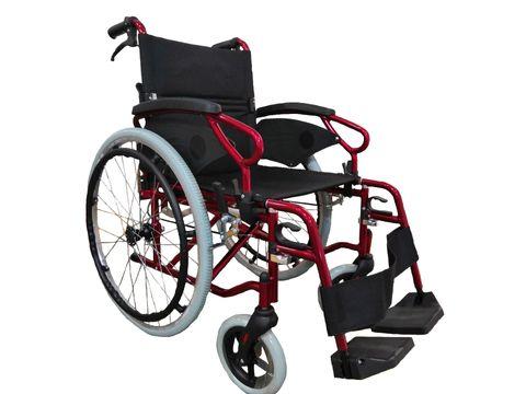 Peak Neptune Self-Propelled Wheelchair 18x16 - Red