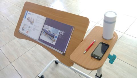 Peak SE-027 Overbed Table With Split Table Top