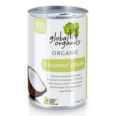 Global Organics Organic Coconut Cream - 400g