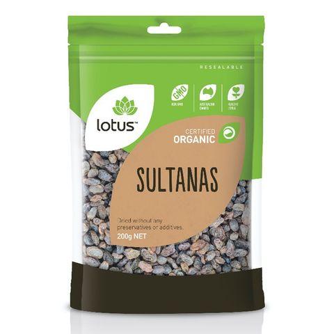 Lotus Organic Sultanas - 200g