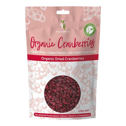 Dr Superfoods Organic Dried Cranberries - 125g
