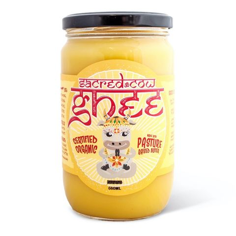 [] Peace Love Vegetables Sacred Cow Ghee - 660g (Refrigerated)