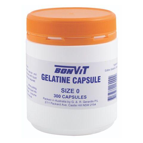 Bonvit Gelatine Capsules O Size - 300 Caps