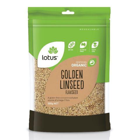 Lotus Organic Golden Linseed - 500g