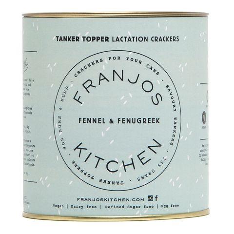Franjos Kitchen Fennel and Fenugreek Tanker Topper Lactation Crackers 280g