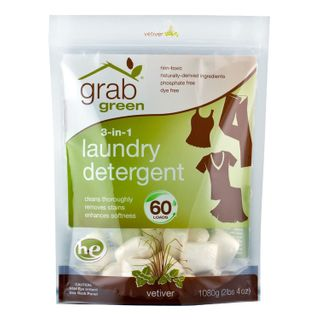Grab Green Laundry Detergent 3 in 1 (Vetiver) - 60 Loads