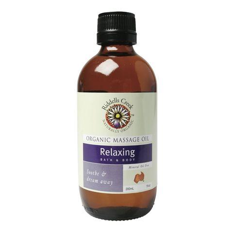 Riddells Creek Organic Relaxing Massage Oil - 200ml