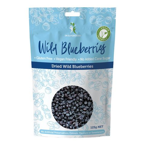 Dr Superfoods Dried Wild Blueberries - 125g