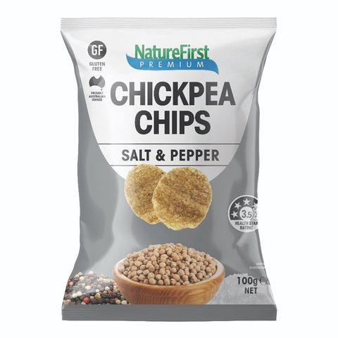Nature First Chick Pea Salt & Pepper Chips - 100g