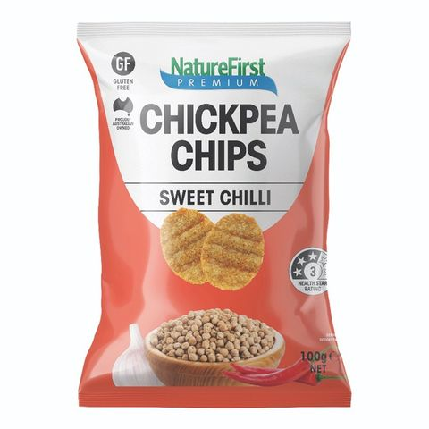 Nature First Chick Pea Sweet Chilli Chips - 100g